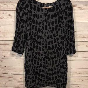 Boden back animal print dress size 4
